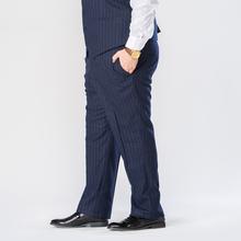 Luźne proste paski spodnie typu Casual 2021 nowych mężczyzna klasyczny garnitur wysokiej jakości 5 kolory Plus rozmiar 4Xl 5Xl 6Xl 7Xl 8Xl 9X tanie tanio Wiosna i jesień CN (pochodzenie) POLIESTER Wiskoza Elegancko na luzie Mieszkanie NONE LOOSE BJ18126 średniej wielkości