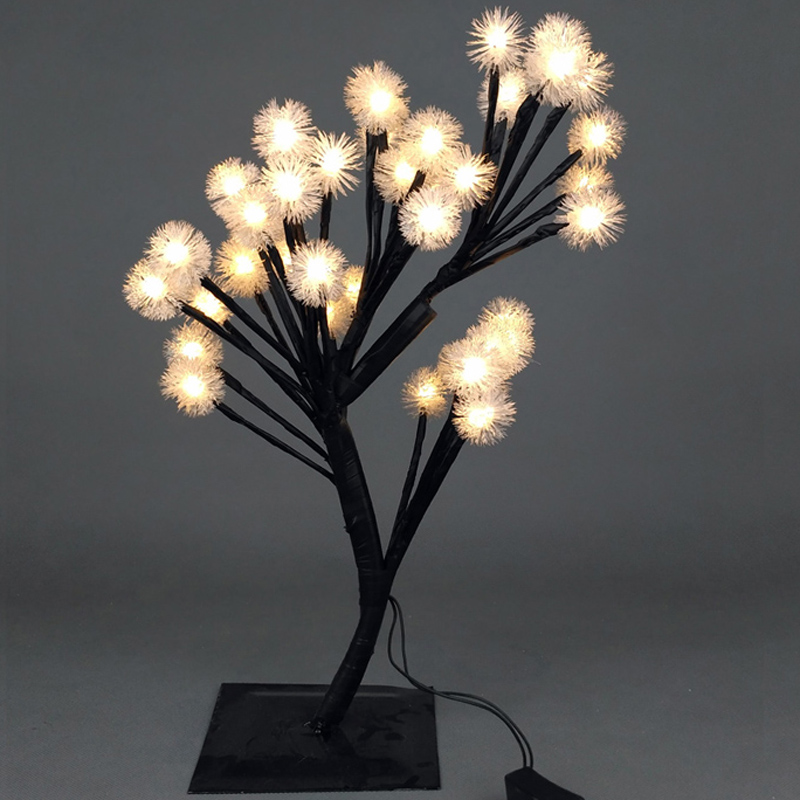 Luminarias LED Crystal cherry blossom tree Lamp Night lights table lamp New Year Christmas wedding decoration indoor lighting 30m 300 led 110v ball string christmas lights new year holiday party wedding luminaria decoration garland lamps indoor lighting