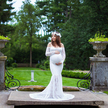 Maternity Photography Props Dresses for Pregnant Women Clothes Photo Shoot Pregnancy Lace Top