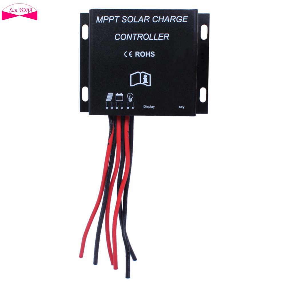 Controlador de carga de batería Solar 30A MPPT 12 V 24 V temporizador impermeable IP68 360 W/720 W