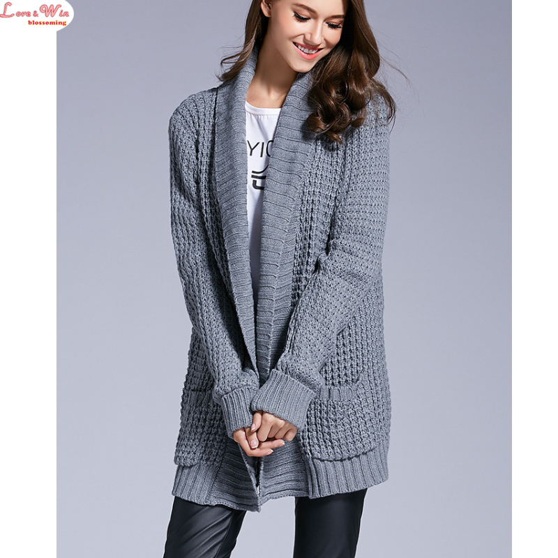 Online Shop NEWEST Thick V-neck Casual Sweater Cardigan Outwear ...