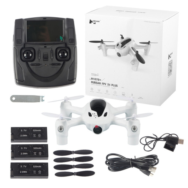 Hubsan FPV X4 PLUS H107D 4-axis Copter Drone 2.4G 4CH Transmitte RC Quad 2MP HD Camera 3pcs Li-po Battery 3.7V