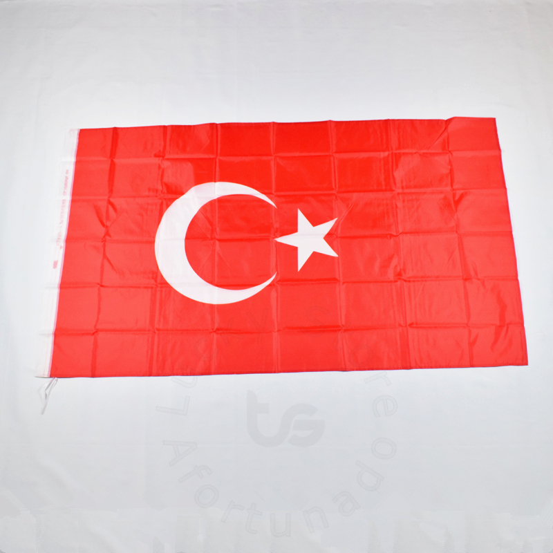 Tyrkia 90 * 150 cm flagg Banner Gratis frakt Hanging National flag for meet, Parade, party.Hanging, decoration