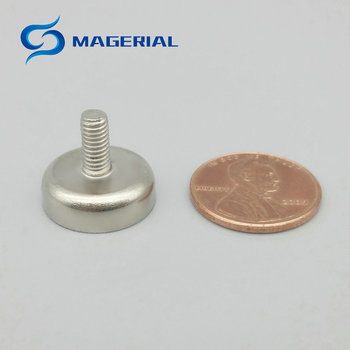 100pcs 2-5kg Pulling Mounting Magnet Diameter 10mm 12mm 16mm Magnetic Pot with Thread Neodymium Permanent Strong Holding Magnet