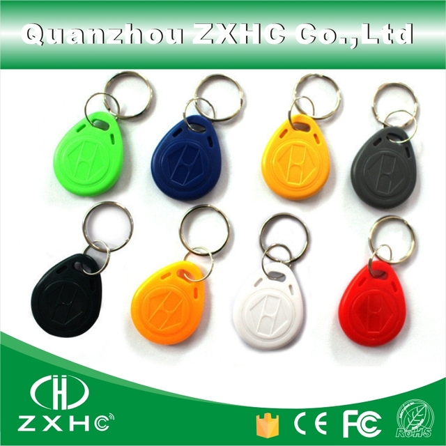 (10pcs) T5577 125KHz RFID Tag Access Control Cards Rewritable Keyfobs Keychain Key Finder for Copy