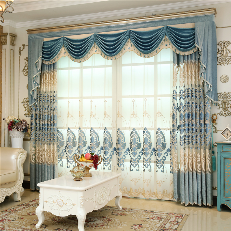 US $15.79 49% OFF Continental Luxury Villa with Velvet Curtains In Bedroom  Windows with Luxurious and Elegant Living Room Valance Curtains-in Curtains  ...