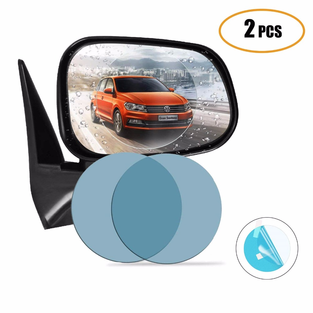 Car Rainproof Rearview Mirror Sticker Flim Anti fog Waterproof Car Mirror Window Clear Replacement-in Car Stickers from Automobiles & Motorcycles