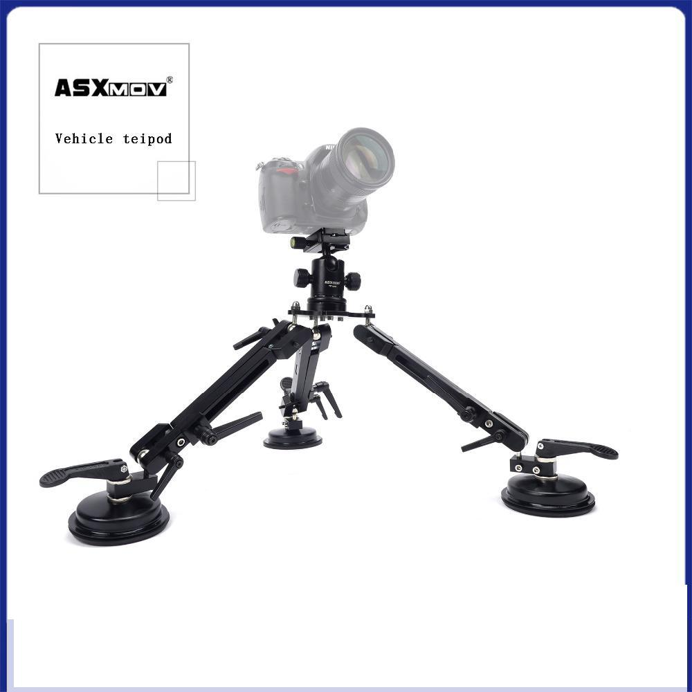 ASXMOV-XP2 Car Sucker Mount filming Stabilizer Car suction Cup Mini Photo Tripod For Digital dslr camera/Video camera/Camcorder 360 degree mini suction cup holder w clip car charger for motorola moto g black
