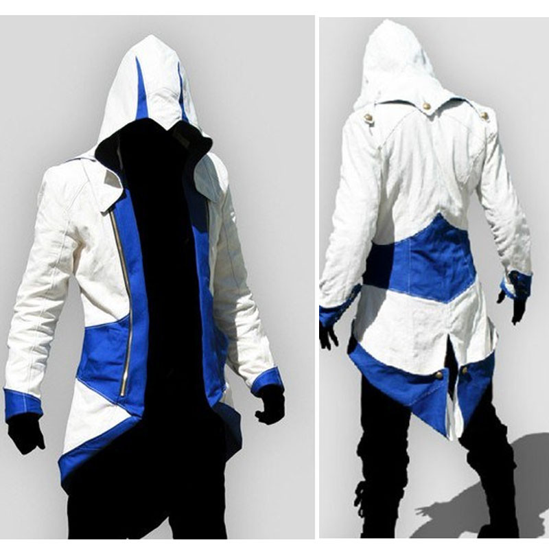 Assassins Creed 3 Iii Conner Kenway Pria Hoodie Jaket Anime