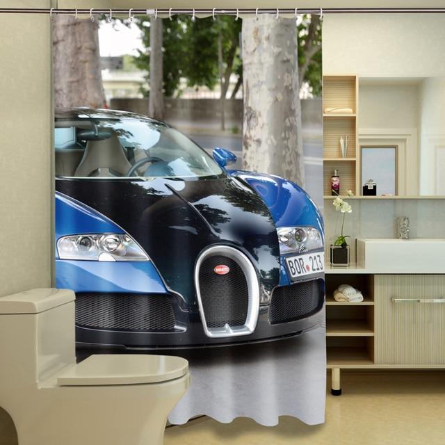 Cool Luxury Cars Sports Cars 3d Photo Print Waterproof Shower