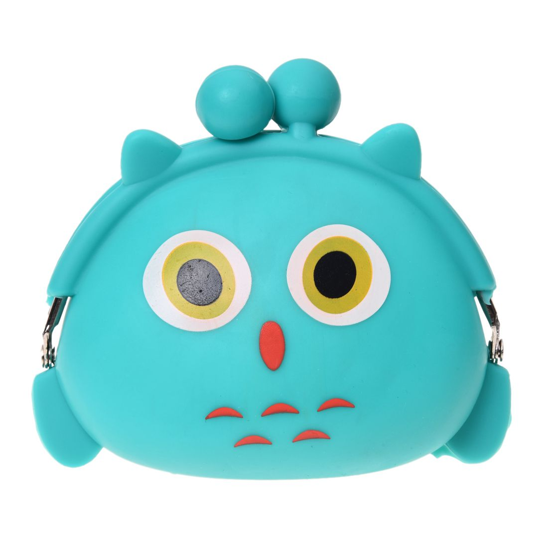 5pcs( ABDB-Women Girls Wallet Kawaii Cute Cartoon Animal Silicone Jelly Coin Bag Purse Kids Gift Owl
