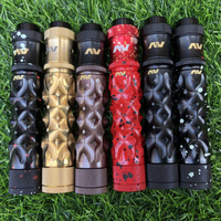 AV medieval gyres mod kit 18650 battery Brass Mechanical Mod kit 24mm Vapor Vaporizer Mod with Atomizers RDA E Cigarette kit