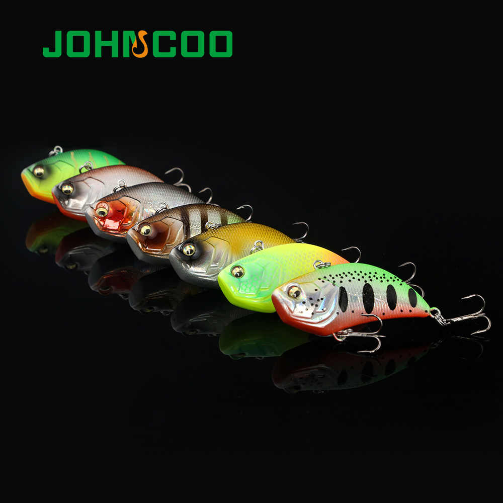 JOHNCOO 52mm 12g Sinking Vibration Fishing Lure Hard พลาสติกประดิษฐ์ VIB เหยื่อ Hard ประดิษฐ์