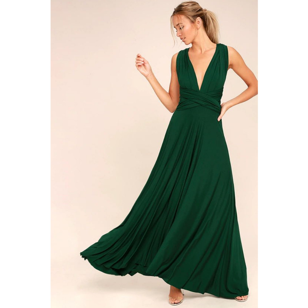 Sexy Women Multiway Wrap Convertible Boho Maxi Club Red Dress Bandage Long Dress Party Bridesmaids Infinity