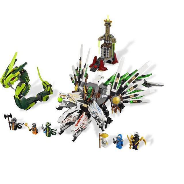 Ninja legoe ninjagoes Armageddon Epic Dragon Battle 911pcs Building Block Sets DIY Toys for Children