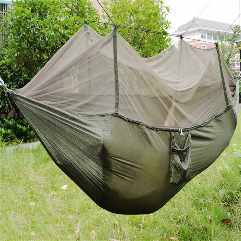 Portable outdoor camping mosquito net nylon hammock hammock sleeping swing Safety & Survival Z0607