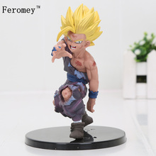 Hot 12cm Dragon Ball Z Anime Figure Toy Dramatic Showcase Son Goku Gohan PVC Action Figures Model Toys Dragon Ball Figures цена