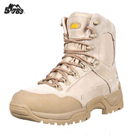 Dry Warm Keeping Faux Leather Shock Absorbing EVA Rubber Blend Soles Scent Control Breathable Military Tactical