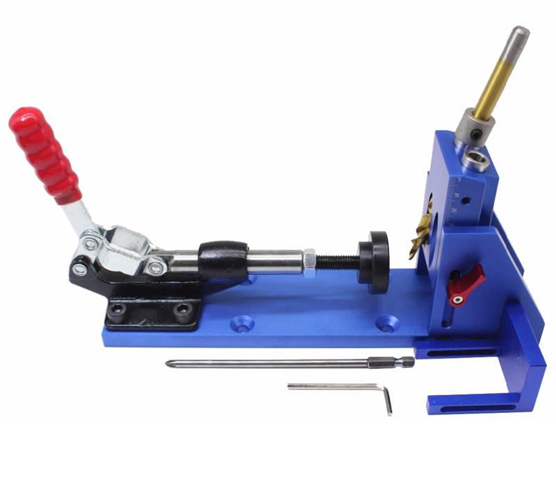 DIY Wood Working Pocket Hole Jig Kit System Slant hole locator set XK-2DIY Wood Working Pocket Hole Jig Kit System Slant hole locator set XK-2