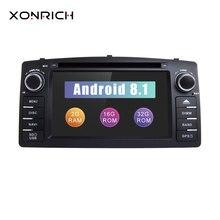 Xonrich 2 Din Android 8,1 Автомобильный DVD плеер для защитные чехлы для сидений, сшитые специально для Toyota Corolla E120 BYD F3 2000 2005GPS радио Мультимедиа Стерео navigationwifi OBD2