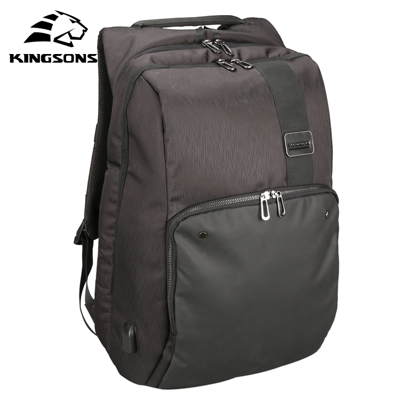 Kingsons 17-17.1 pouces sac à dos pour ordinateur portable avec Port de chargement USB sacs d'école de mode pour adolescents garçons hommes femmes sac d'ordinateur portable