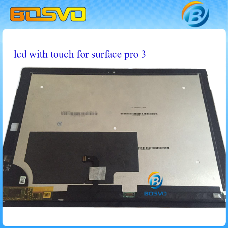LCD Assembly display touch screen digitizer panel For Microsoft Surface Pro 3 (1631) TOM12H20 V1.1 LTL120QL01 003 free shipping