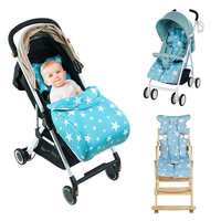 Star Printed Baby Stroller Pad Seat Windproof Warm Cover Detachable Multifunction Child Carriage Infant Thicken Pad poussette A3