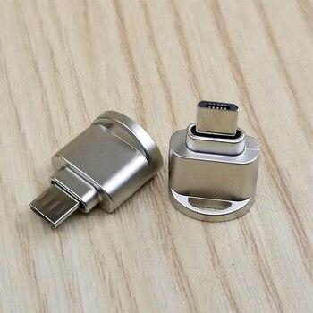 Powstro typ mini C 3.1 interfejs obsługa karty micro sd TF czytnik kart pamięci otg usb adapter do laptopa smartfon