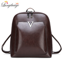 2018 New Women Vintage Backpack Brand Luxurious Leather Women s Shoulder Bag  Large Capacity School Bag For d5ef1e11b8
