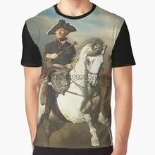 Todo mujeres T camisa de los hombres camiseta Frederick el grande con sus  generales gráfico mujeres ac349c4a0ce