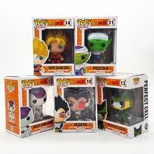 Funko Pop Anime Funkopop Dragon Ball Z Son Goku Vegeta Piccolo Frieza Cell Super Saiyan Action Figure Toys 10cm PVC Model 0146
