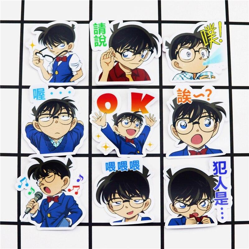 40pcs Creative Kawaii Self-made Detective Conan Boy Stickers Beautiful Stickers /decorative Sticker /DIY Craft Photo Albums