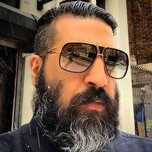 Фирменный дизайн, женские солнцезащитные очки с плоским верхом, квадратные, 18 К, негабаритные, мужские солнцезащитные очки, золотые, мужские, зеркальные, высокое качество, пять стилей, женские