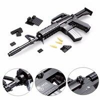 AUSINI 22607 Military M16 Automatic Rifle Gun Building Blocks Brick Compatible LegoIN Technic Playmobil Toys For Children