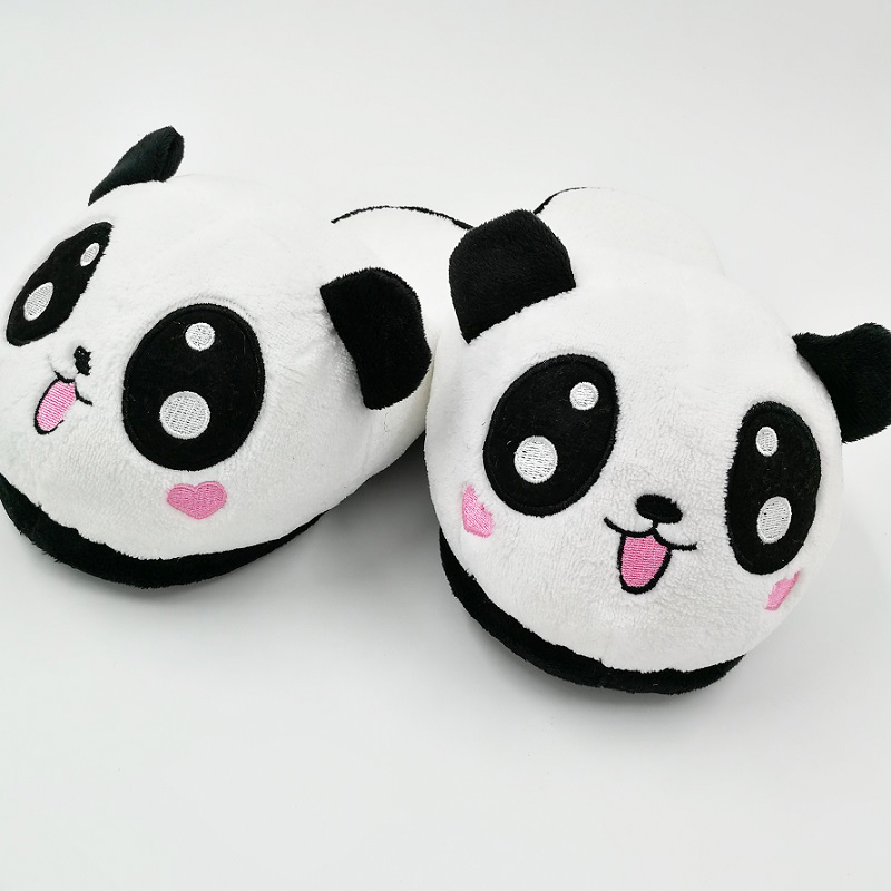 Panda Slipper Pantoufle Femme Women Shoes Woman House Animal cosplay Warm Big Funny Adult Slippers 2017 totoro plush slippers with leaf pantoufle femme women shoes woman house animal warm big animal woman funny adult slippers page 2