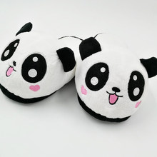 384f112a1d5 Panda Slipper Pantoufle Femme Women Shoes Woman House Animal cosplay Warm  Big Funny Adult Slippers(