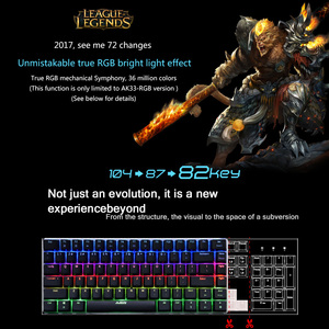 Image 4 - AJAZZ AK33 Mechanical Keyboard RGB Gaming Keyboards 82 Keys Blue/Black Switches Anti Ghosting for  PTUG LOL DOTA 2 csgo