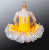 Gratis Verzending! Kind Ballet Tutu, Geel Tutu Rokken, Ballet Tutu Met Voering. Kinderen Dance Kostuums, Ballet Klassieke Tutu BT9017