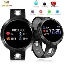 BINSSAW spor akıllı saat Android Ios spor izci kan basıncı kalp hızı izci erkekler bileklik kadın çoklu dil izle
