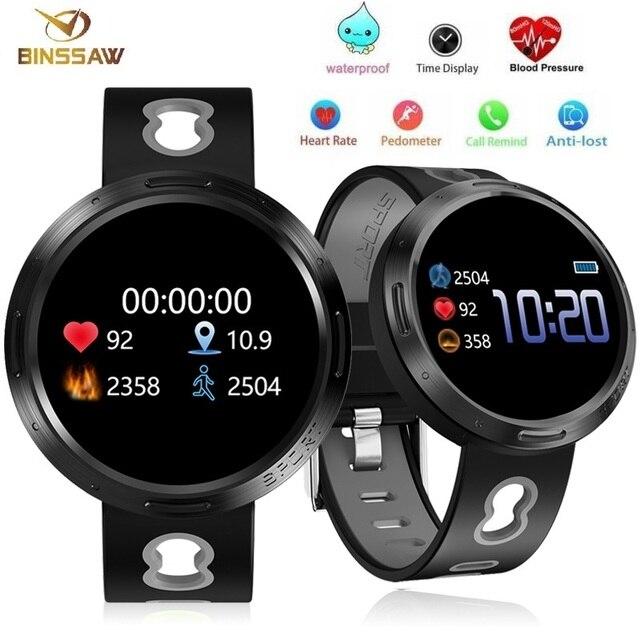 Binssee الرياضة ساعة رقمية أندرويد Ios جهاز تعقب للياقة البدنية ضغط الدم معدل ضربات القلب المقتفي الرجال معصمه النساء متعدد اللغات ساعة
