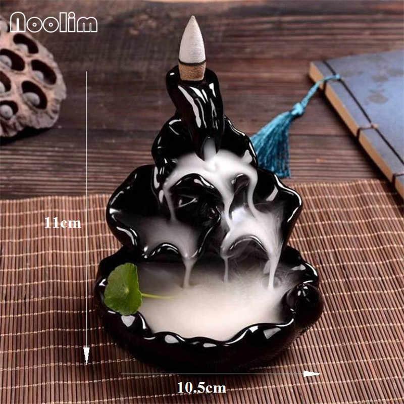 Горная вода обратного потока ладан горелка ладан статуя Будды керамический Аромат дым курильница дзен комната ладан Joss держатель