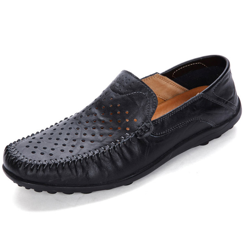 Brand Summer Causal Driving Shoes Men Loafers PU Leather Moccasins Men Shoes Flats Hollow Breathable Slip-On High Quality Hombre  new men leather driving moccasins shoes british hollow men s slip on loafers summer flats men shoes casual comfy breathable