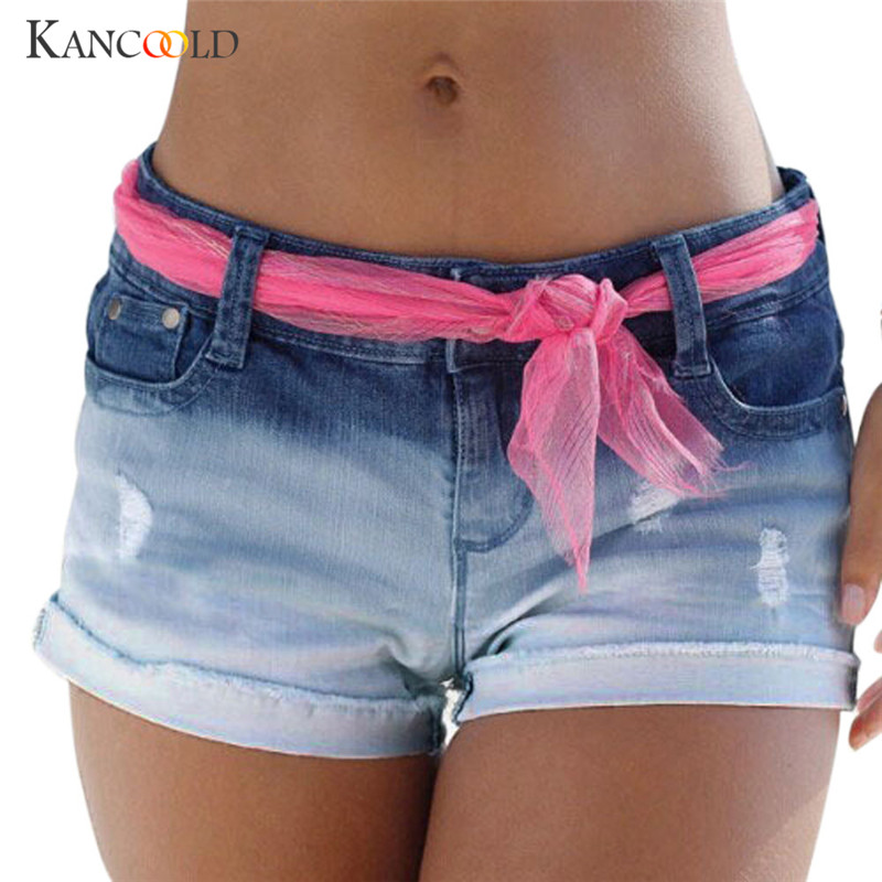 Women girls short feminino shorts female jeans booty short pantaloncini donna casual korte broek vrouwen waist beach 2018 fb12a