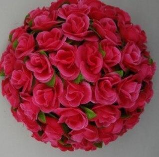 55 см вьющаяся Роза из искусственного шелка(Висячие цветочные шарики для Свадебные украшения - Цвет: rose