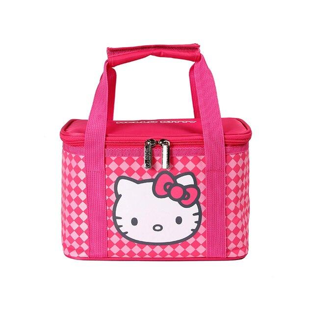 24*14*16cm Fashion Portable Box Tote Bag Thermal Food Picnic Lunch Bag for Women kids Men Cooler Picnic Bags
