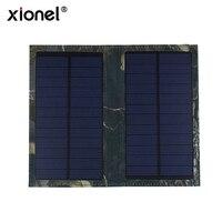 Xionel 3 W Plegable Solar Célula Del Panel Solar de La Batería Externa Del Cargador Del Banco con Puerto USB para el Teléfono Móvil Samsung