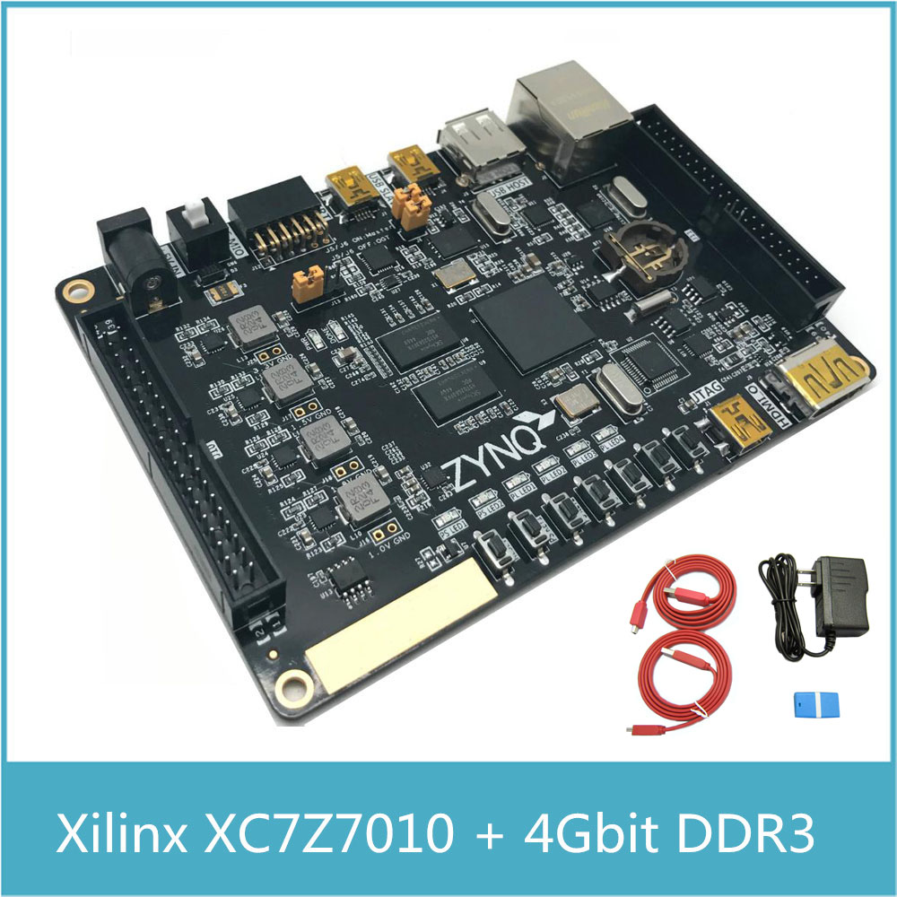 XILINX FPGA XC7Z010 Development Board ARM Cortex A9 ZYNQ7010 with 4Gbit DDR3 with Xilinx Platform Cable