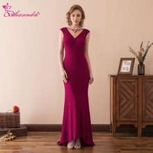 Alexzendra Purple V Back Elegant Mermaid Prom Dress