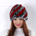 The new winter women warm wool hat  Personality stripe  Warm autumn and winter female hat lovely dome headers 2016 New
