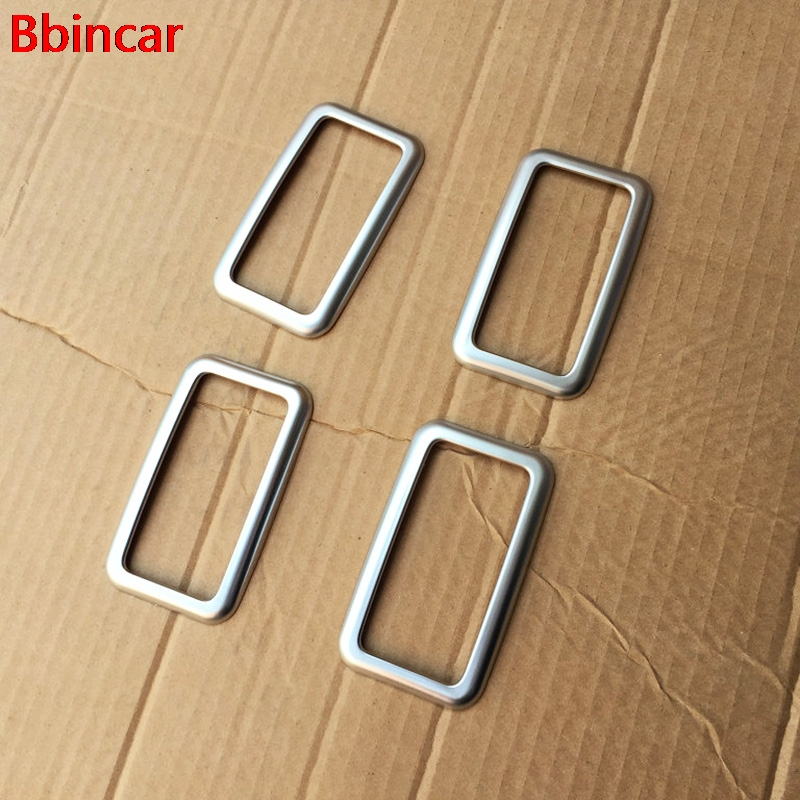 Bbincar ABS Chrome Rear tail reading lamp light moulding trim Interior Accessories 4pcs For Toyota Sienna XL30 2015-2017